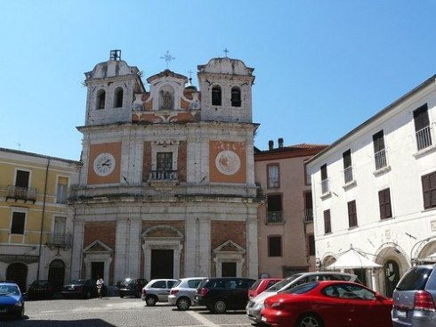 Cathedral in Atina Frosinone Italy